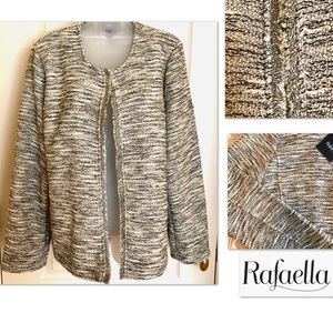 Knit Jacket Rafaella Woven Oatmeal/Black/Gold